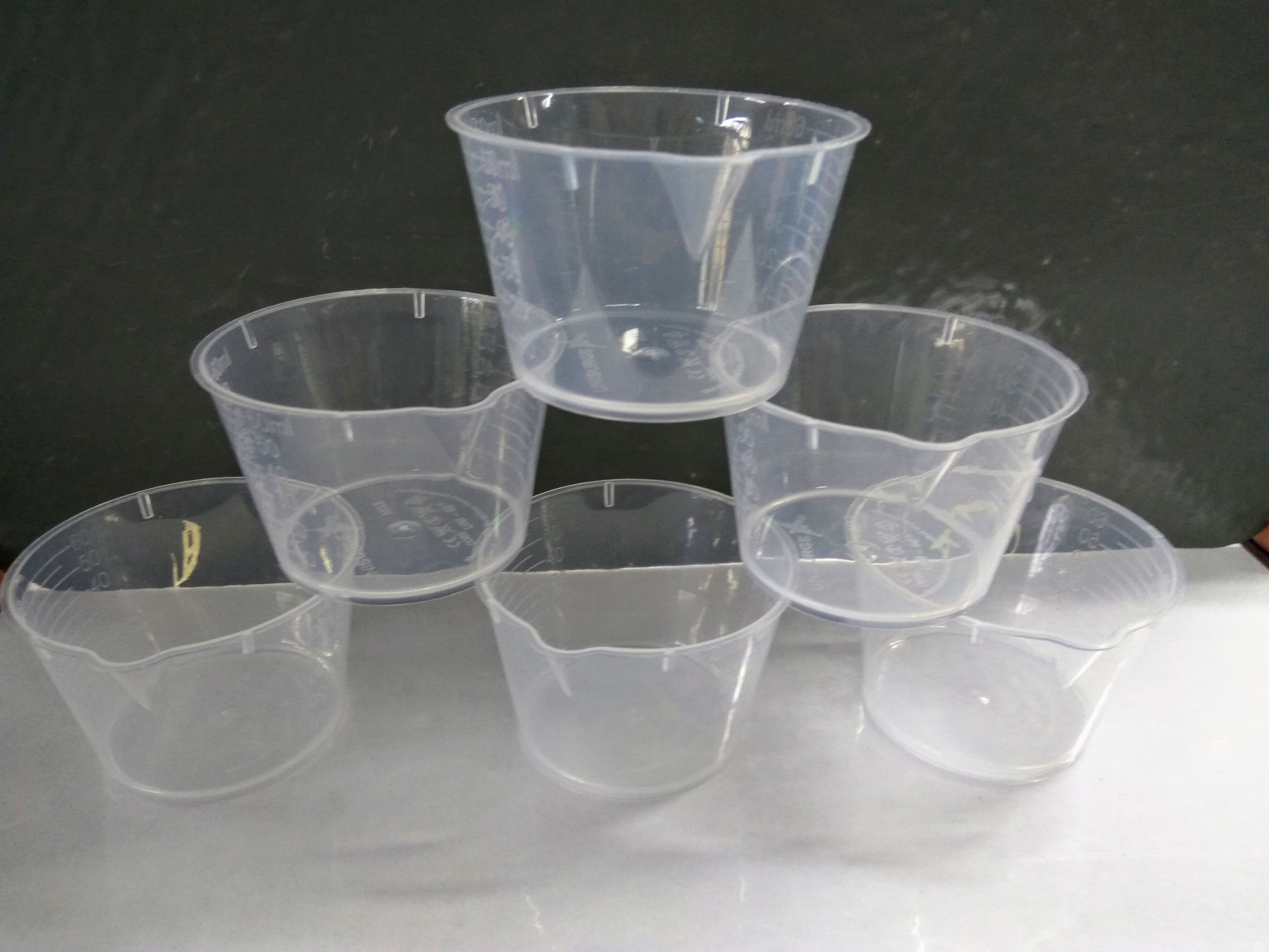 60ml Plastic Cup with Spout (single)